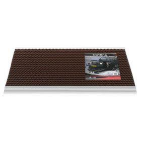 Borstelmat Outline - 50x80 - Bruin